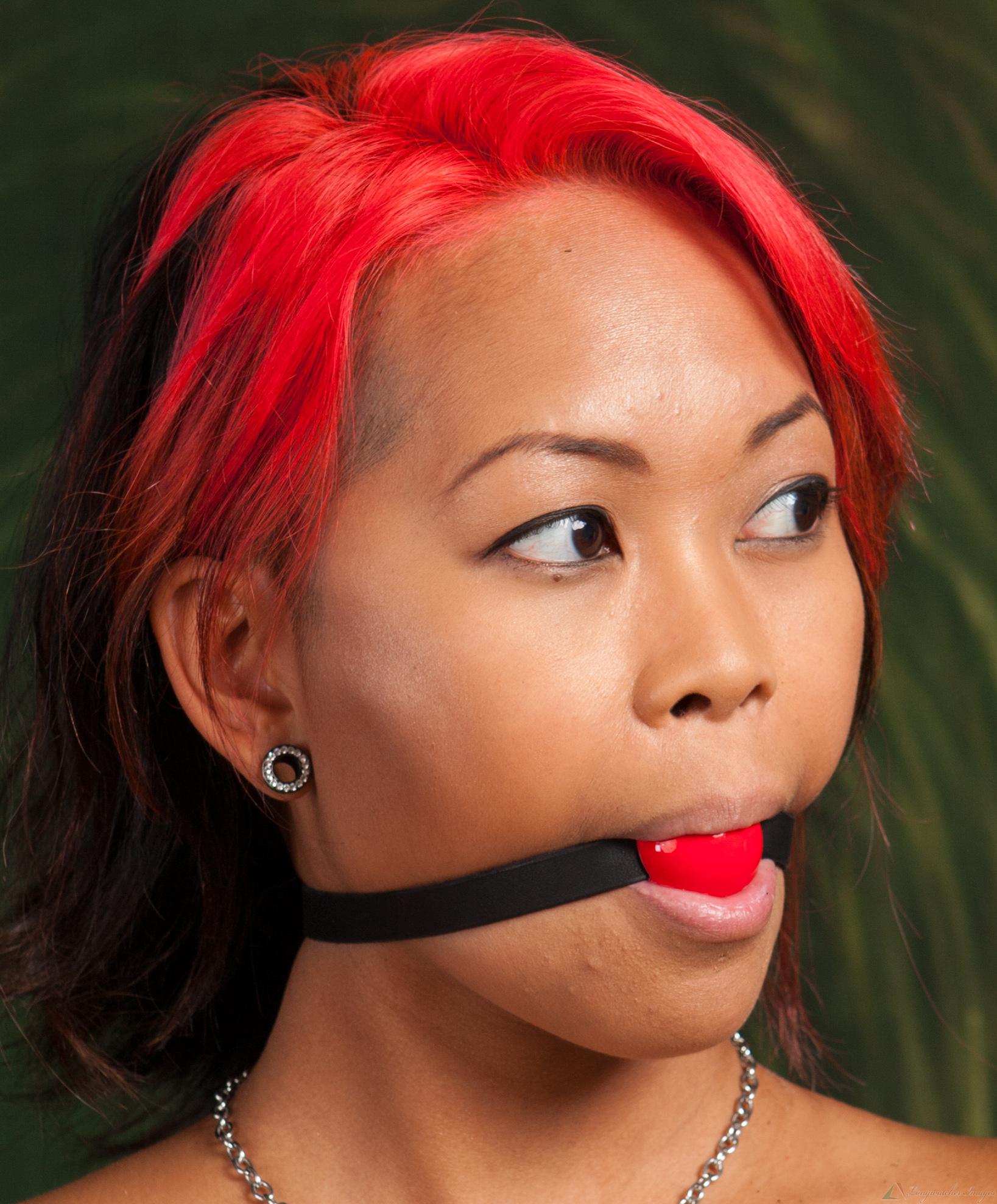 Red ball gagged